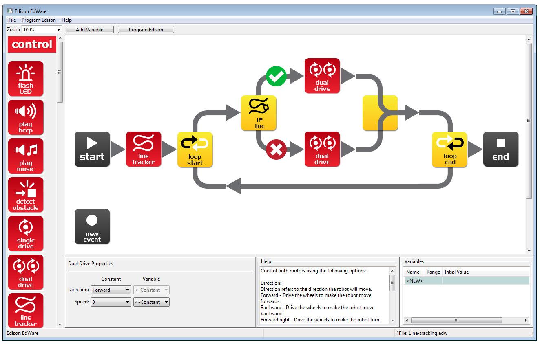 Robot programming software - EdWare