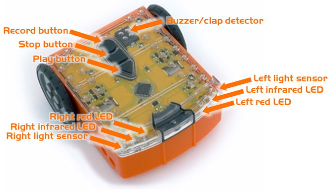 Lego robot sensors and buttons