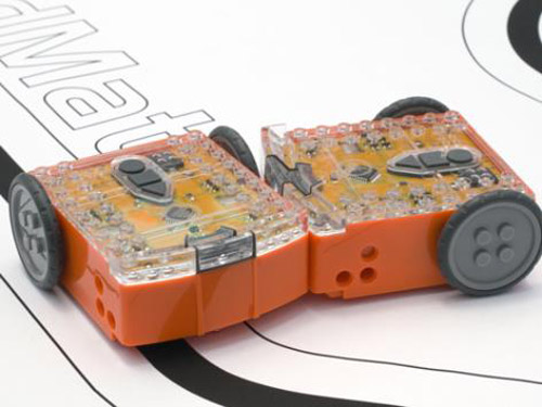 two Edisons in a Robot sumo wrestle