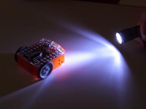 Edison the light following robot