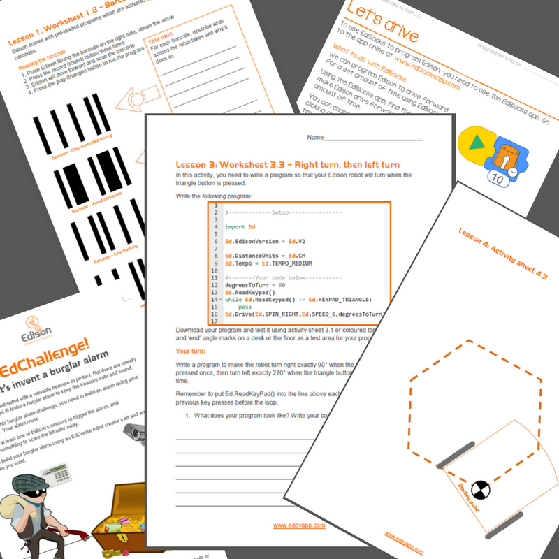 Whats In The Edison Robot Teacher Resources Guides Worksheets More