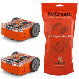 EdSTEM starter pack - EdCreate Edison robot creator's kit with 2 Edison robots