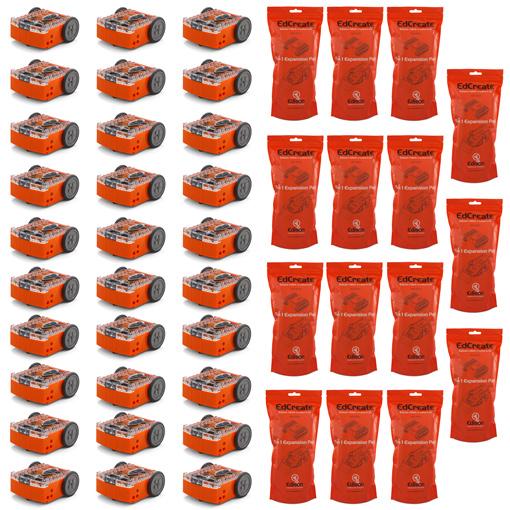 30 x Edison robots and 15 x EdCreate kits