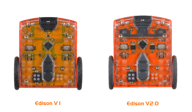 Version 1 Edison robot verses a Version 2
