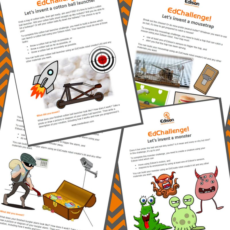 EdCreate challenge worksheets