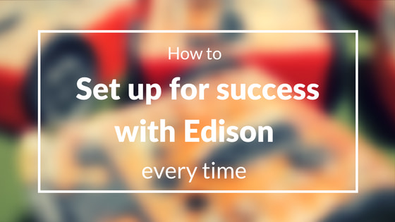 How to set up for success with your Edison robot