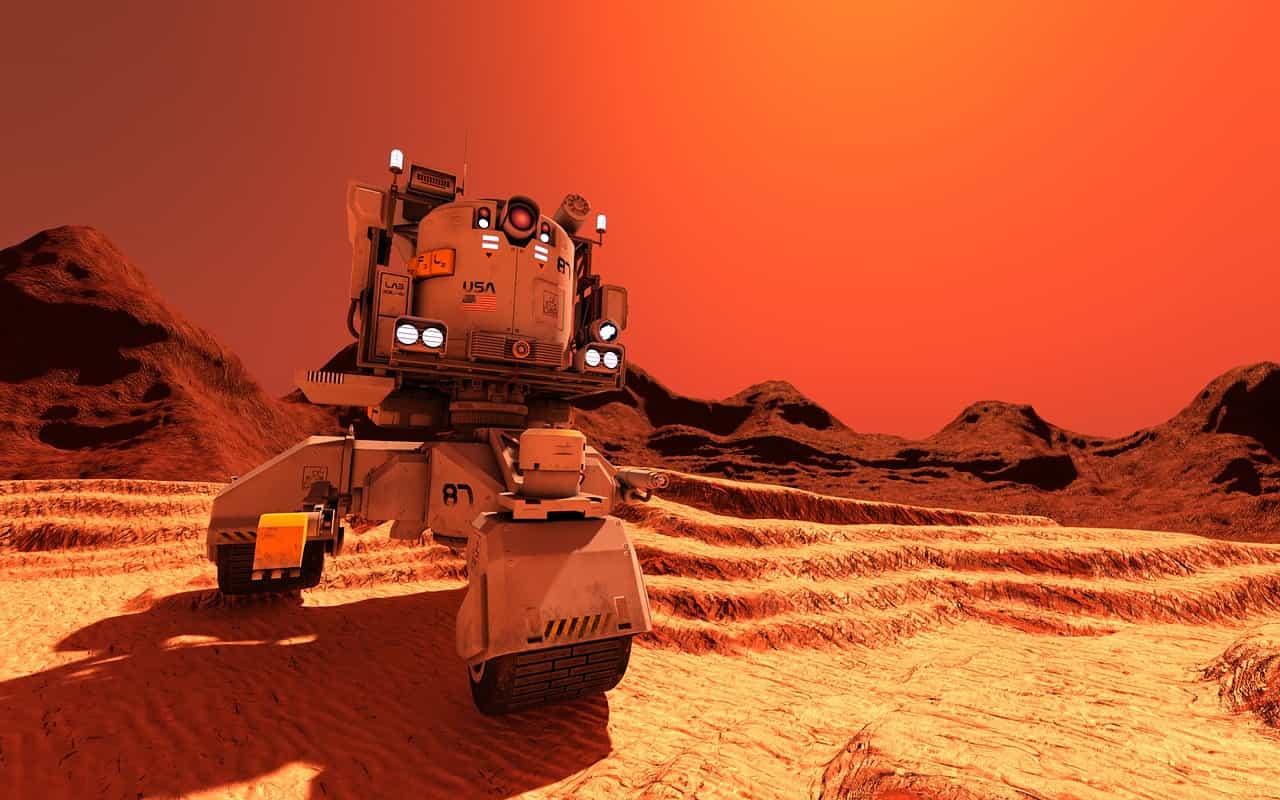 A Mars rover