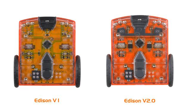 Version 1 Edison robot verses a