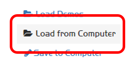 Menu option: 'Load from Computer'
