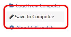 Menu option: 'Save to Computer'