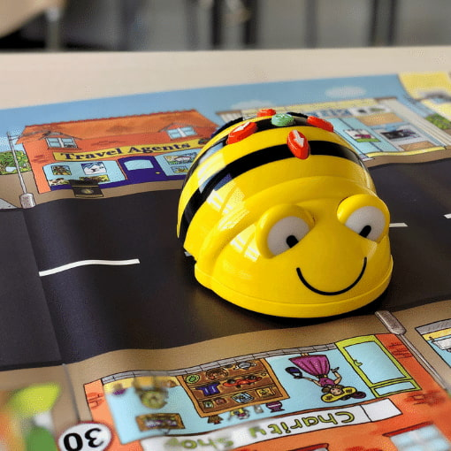 Beebot - a physically coded robot
